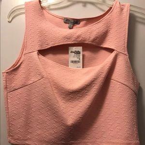 Charlotte Russe Pink Crop Top, NWT. M